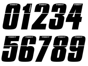 "Insight BMX Numberplate Number - 3"" # - Black"