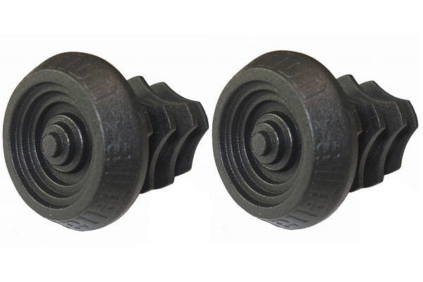 Alienation BMX Plastic Bar End Plugs - for Aluminum & Steel bars - Black