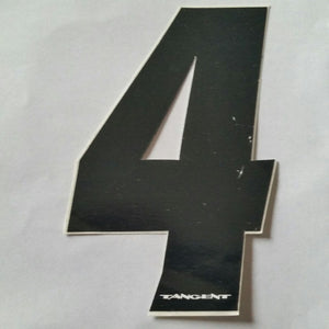 "Tangent BMX Numberplate Number - 4"" # - Black"