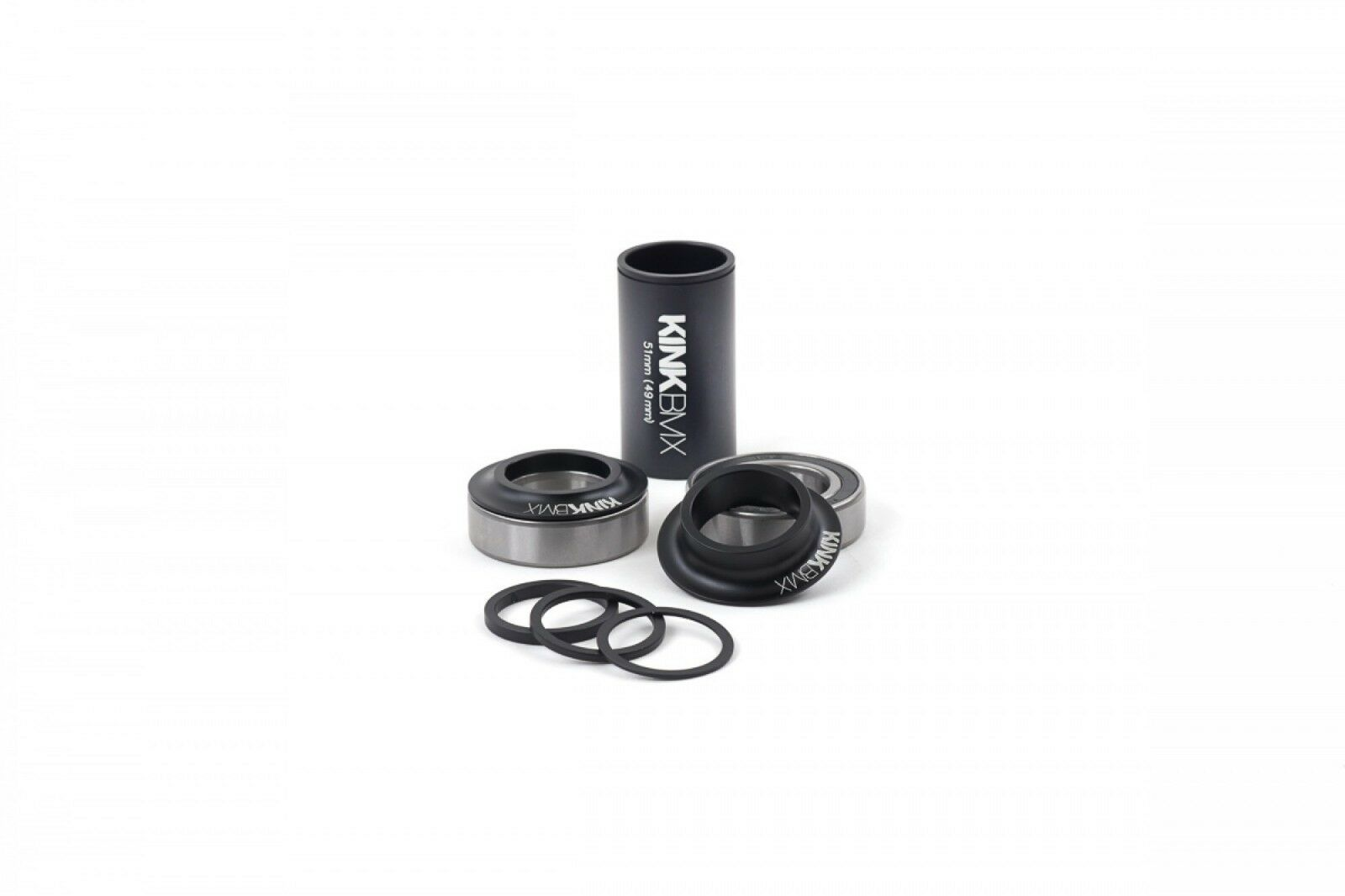 Kink 24mm Mid BMX Bottom Bracket Kit - Matte Black