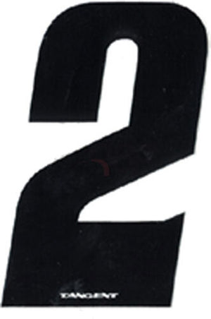 "Tangent BMX Numberplate Number - 3"" # - Black"