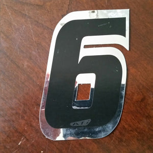 "ATI BMX Numberplate Number - 4"" # - Foil - USA Made"