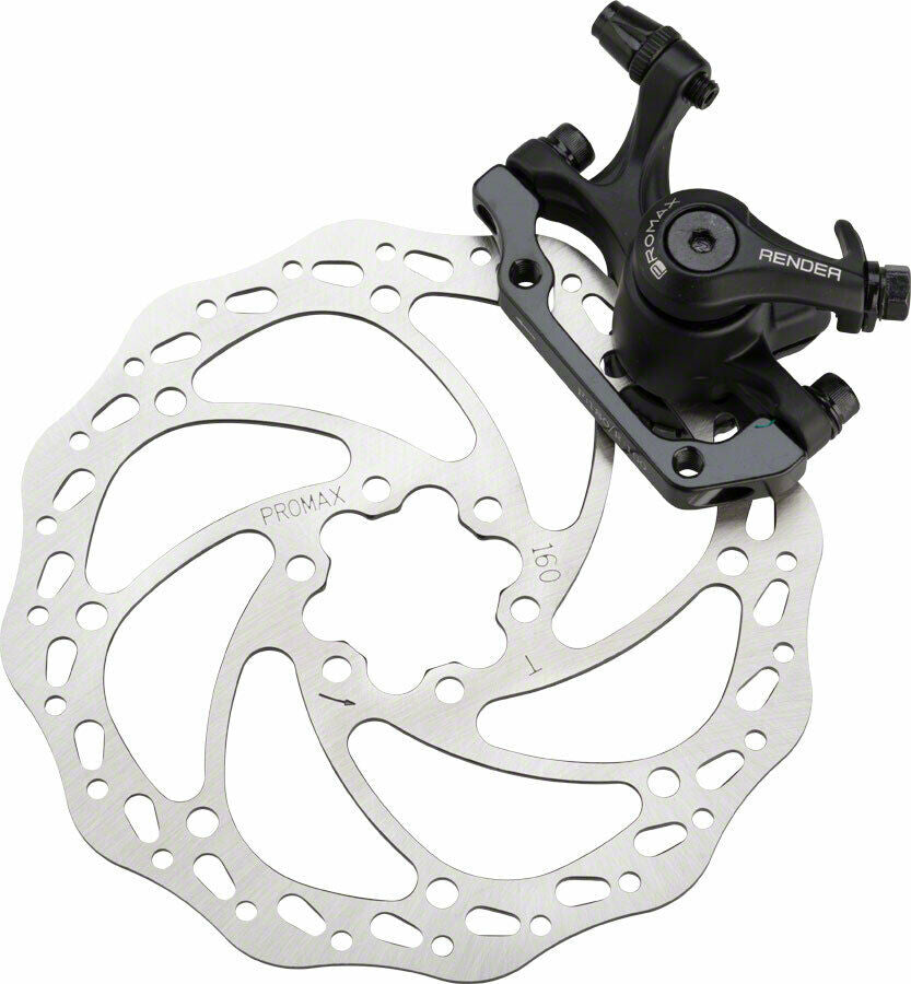 Promax Render Rear Mechanical Disc Brake Caliper w/ 160mm Rotor + IS bracket