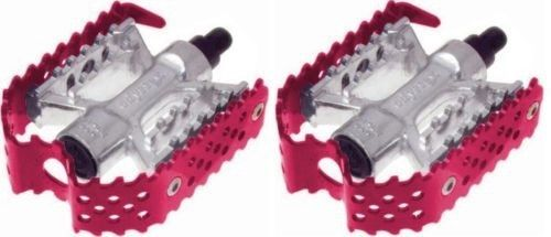 "Odyssey Triple Trap BMX Cage Pedals - 1/2"" - Red Anodized"