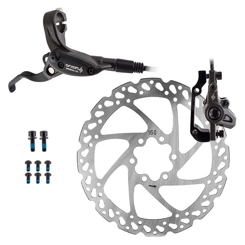 Origin8 Vise Hydraulic Rear Disc Brake Kit - Pre-bled w/ 160mm rotor