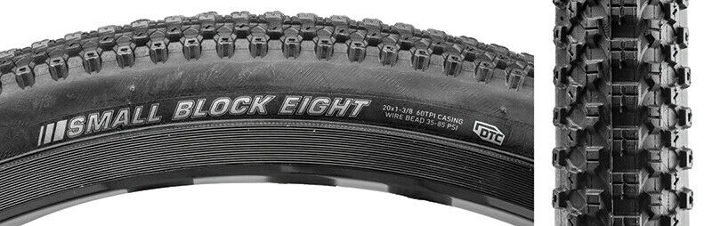 20x1-1/8 Kenda Small Block Eight 8 BMX Race Tire - All Black