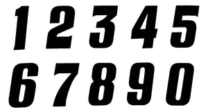 "Tangent BMX Side Number Plate Number - 2"" - Black #"