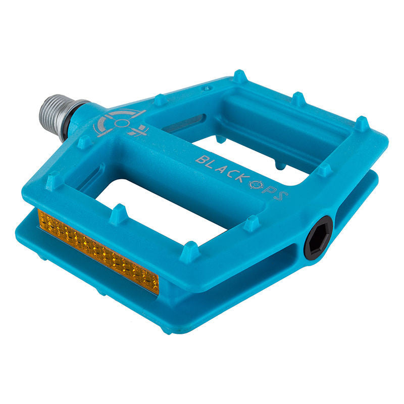 BlackOps Nylo-Form Blue PC Sealed BMX Platform Pedals Plastic 9/16""