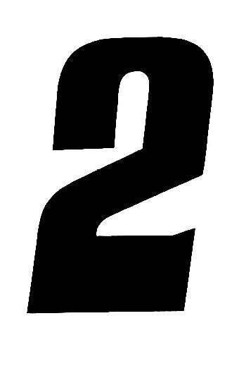 """Tangent Products Number Plate Numbers # Black and White 3/"""""""