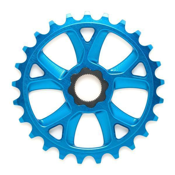 Cult 25t  OS 19mm Spline Drive Aluminum BMX Sprocket - Blue