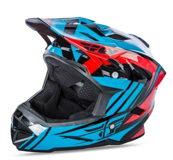 Pryme US Full Face BMX DH Helmet sz Adult L//XL Blue//Black