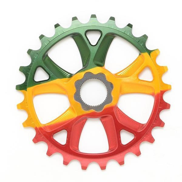 Cult 25t OS 19mm Spline Drive Aluminum BMX Sprocket - Rasta
