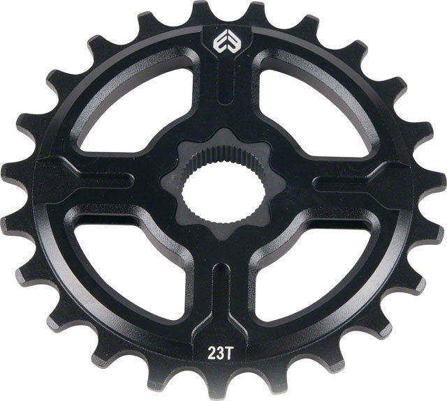 Eclat 25t Channel 19mm Spline Drive  Aluminum BMX Sprocket - Black