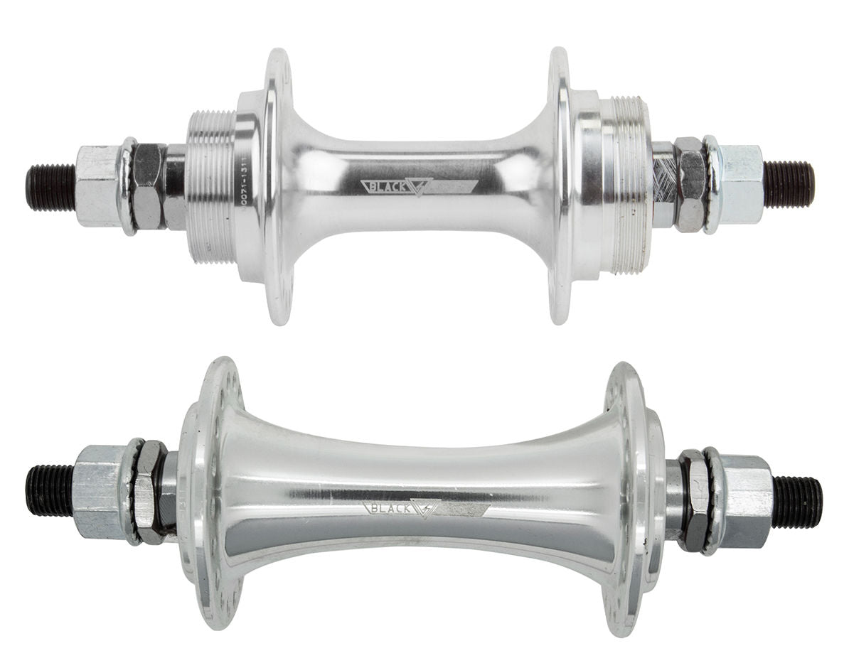 "BlackOps Sealed BMX Flip/Flop Freewheel Hubset - 32h - 3/8"" axles - Silver"