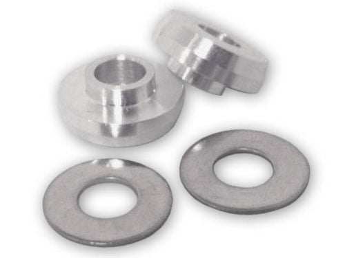 "Black Pair SE Alloy Hub Washers // Dropout Savers Fits 3//8/"" axles"