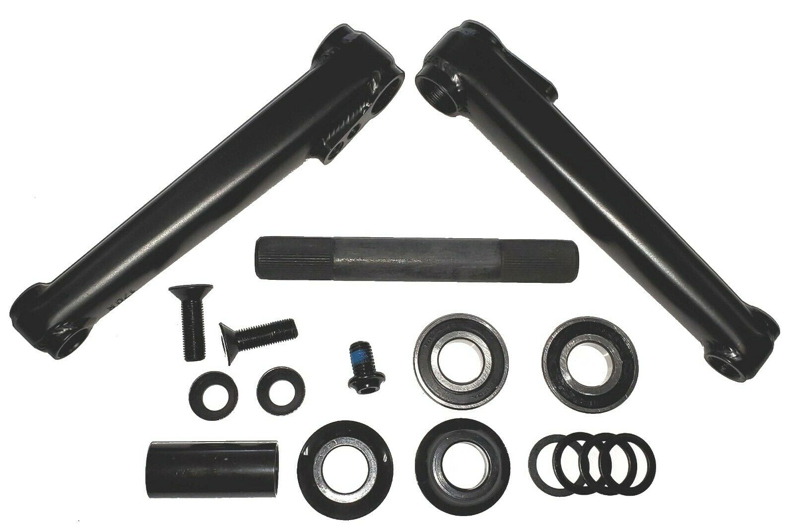 MISSION TRANSIT V2 BLACK 165MM 3-PIECE BMX BICYCLE CRANK