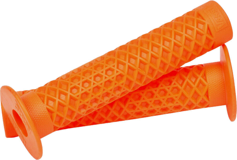 2 old school BMX  bicycle grips ORANGE *MADE IN USA* NEW Air-Uni Hand Grenade