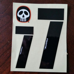 "Pryme BMX Numberplate Number sheet 1- 4.5"" and 1- 3"" numbers #"