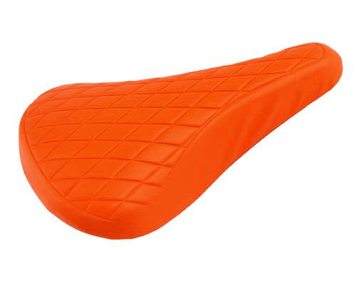 Quilted BMX / Road Retro Railed Seat - Orange