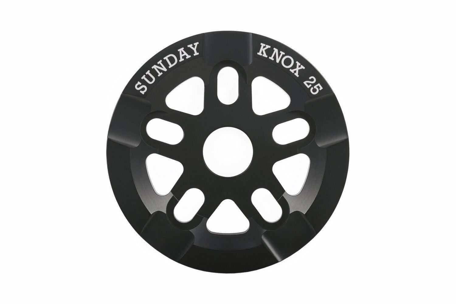 Sunday 25t Knox V2 Guard Sprocket / Chainwheel - Black