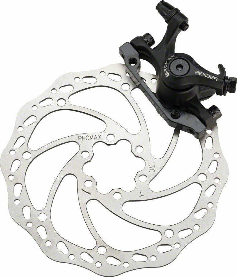 Promax Render Front Mechanical Disc Brake Caliper w/ 160mm Rotor + IS bracket