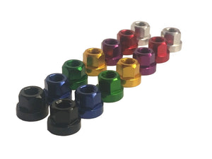 "TNT Aluminum Axle Nuts - 3/8"" x 26t - Set of 2 - Assorted Colors"