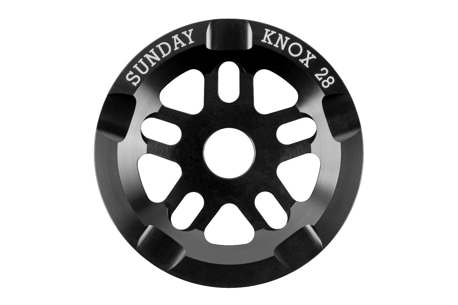 Sunday 28t Knox V2 Guard Sprocket / Chainwheel - Black