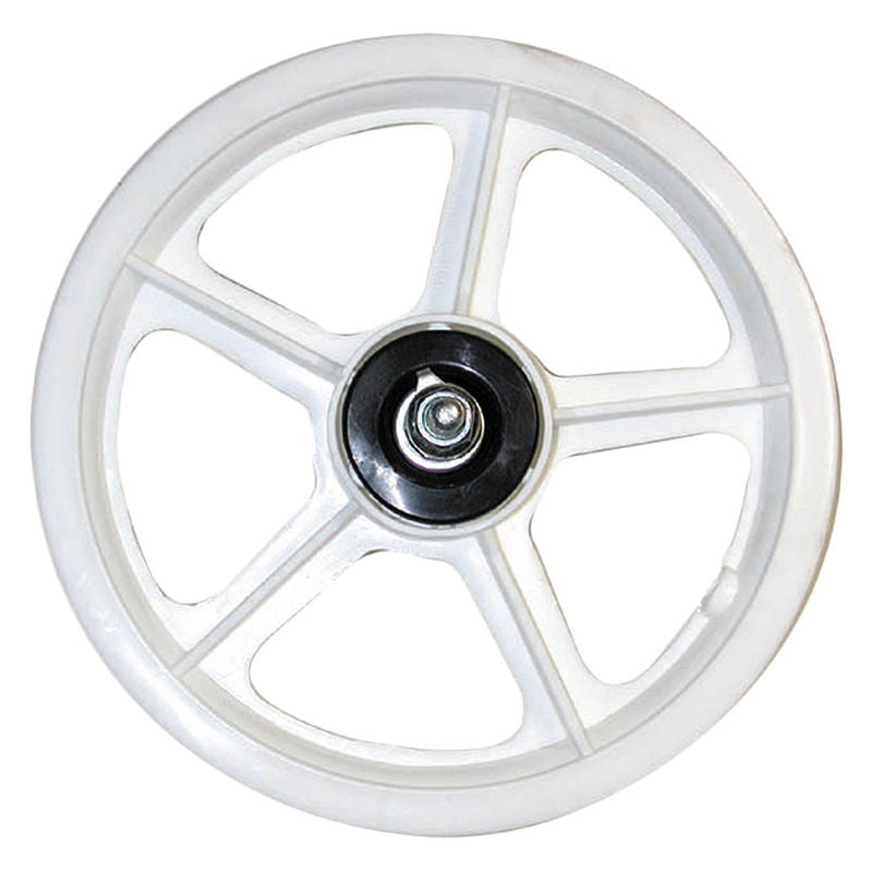 "12"" (12-1/2"") 5-spoke Mag Scooter / BMX Front Wheel - White"
