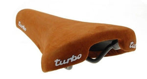 Selle Italia Turbo Railed Saddle Brown Suede BMX Seat - Made in Italy
