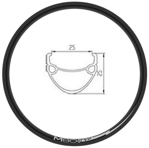 "TNT M-80 Double Wall 24"" (507mm) Rim - 36H - Black Anodized"