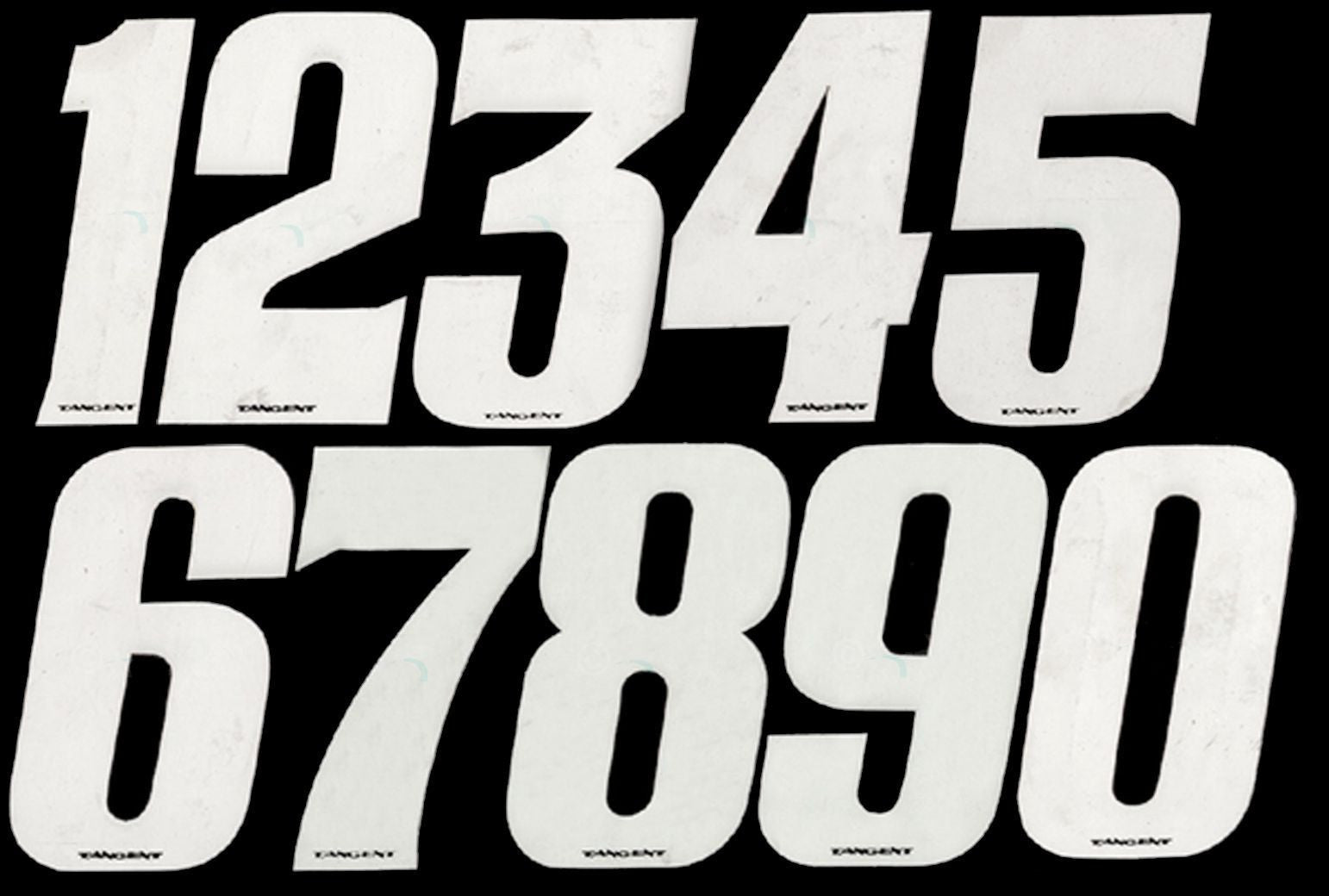 "Tangent BMX Numberplate Number - 3"" # - White"