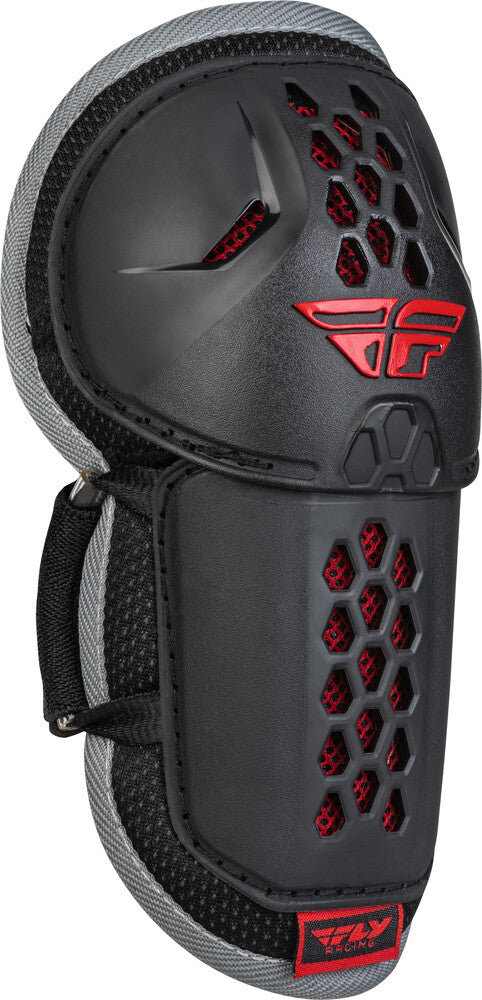 Fly Racing Barricade Flex  BMX Elbow Guard - Youth Size - Black/Red