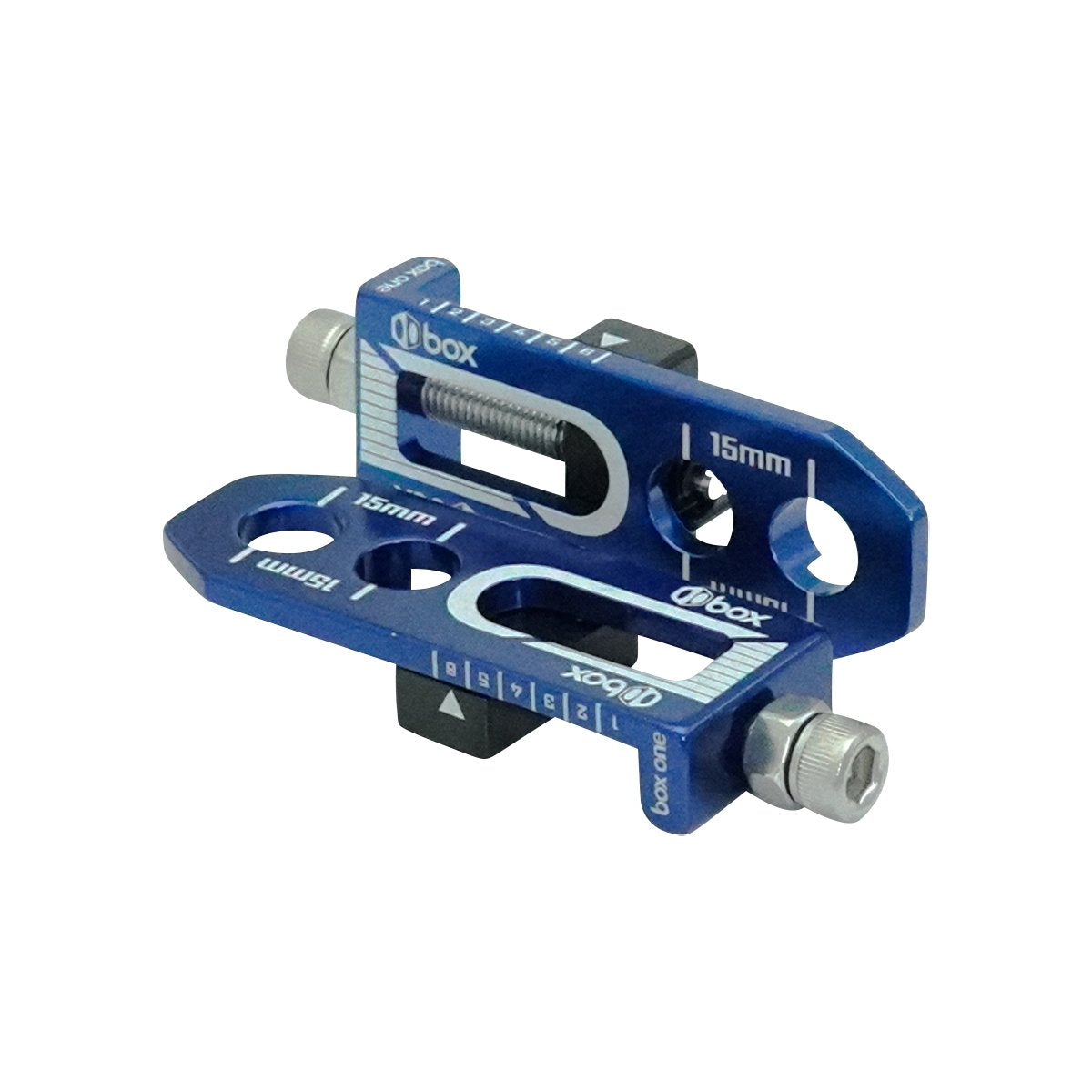 "Box One 3/8"" BMX Chain Tensioners - Pair - Blue"