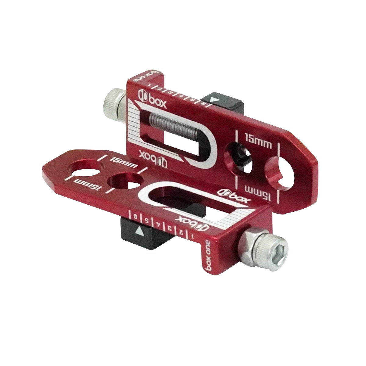 "Box One 3/8"" BMX Chain Tensioners - Pair - Red"