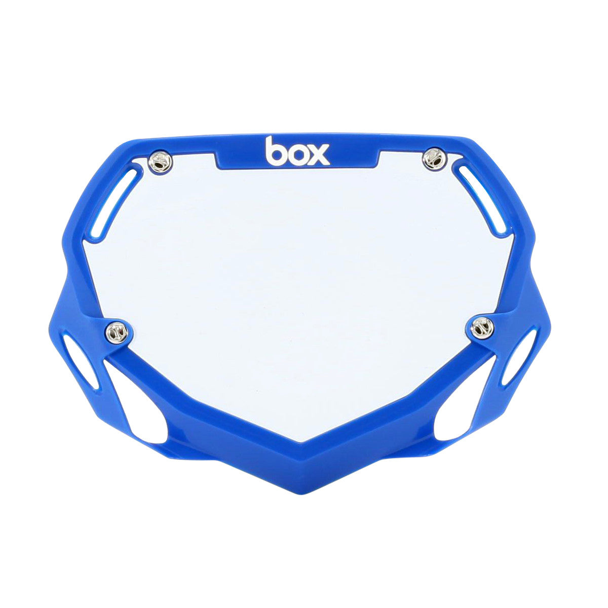 Box Two Mini / Cruiser BMX Number Plate - Blue + White
