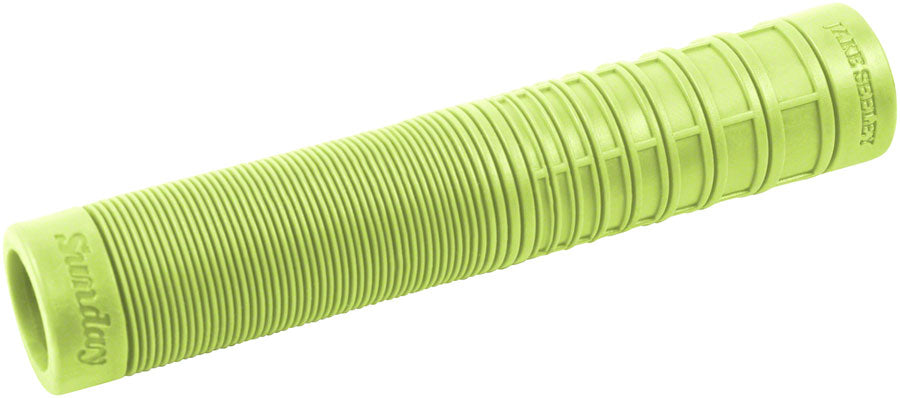 Sunday BMX Jake Seeley Grips w/ Bar Ends - Flangeless - Kiwi Green