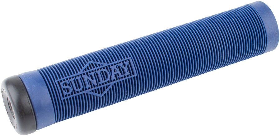 Sunday BMX  Cornerstone Grips w/ Bar Ends - Flangeless - Midnight Blue