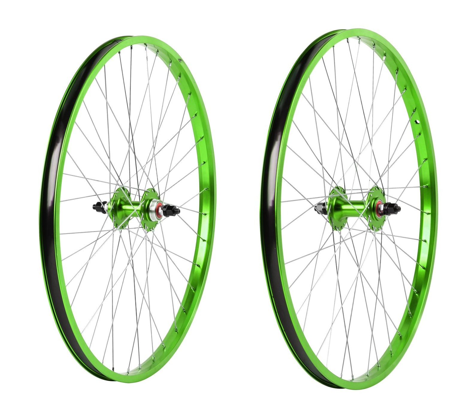 "26"" Haro Legends  BMX Wheelset - Sealed - Double Wall - Green"