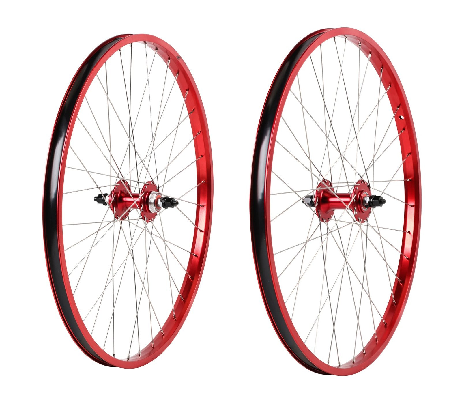 "26"" Haro Legends  BMX Wheelset - Sealed - Double Wall - Red"
