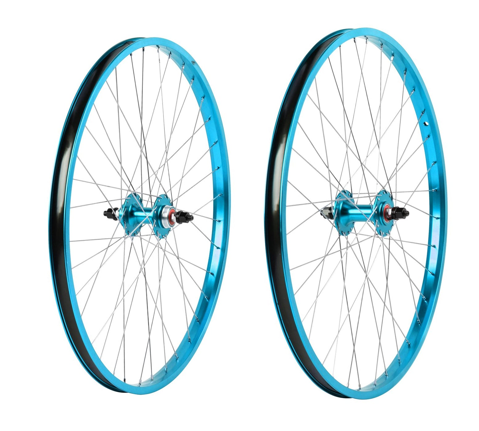 "26"" Haro Legends  BMX Wheelset - Sealed - Double Wall - Teal Blue"