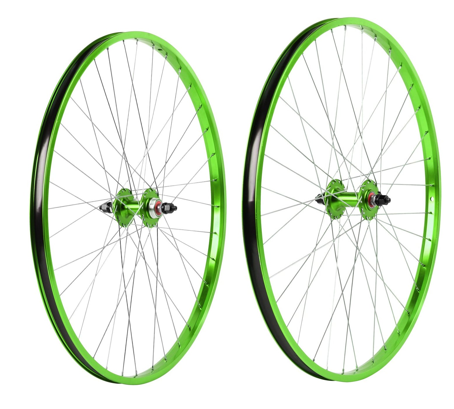 "29"" Haro Legends  BMX Wheelset - Sealed - Double Wall - Green"