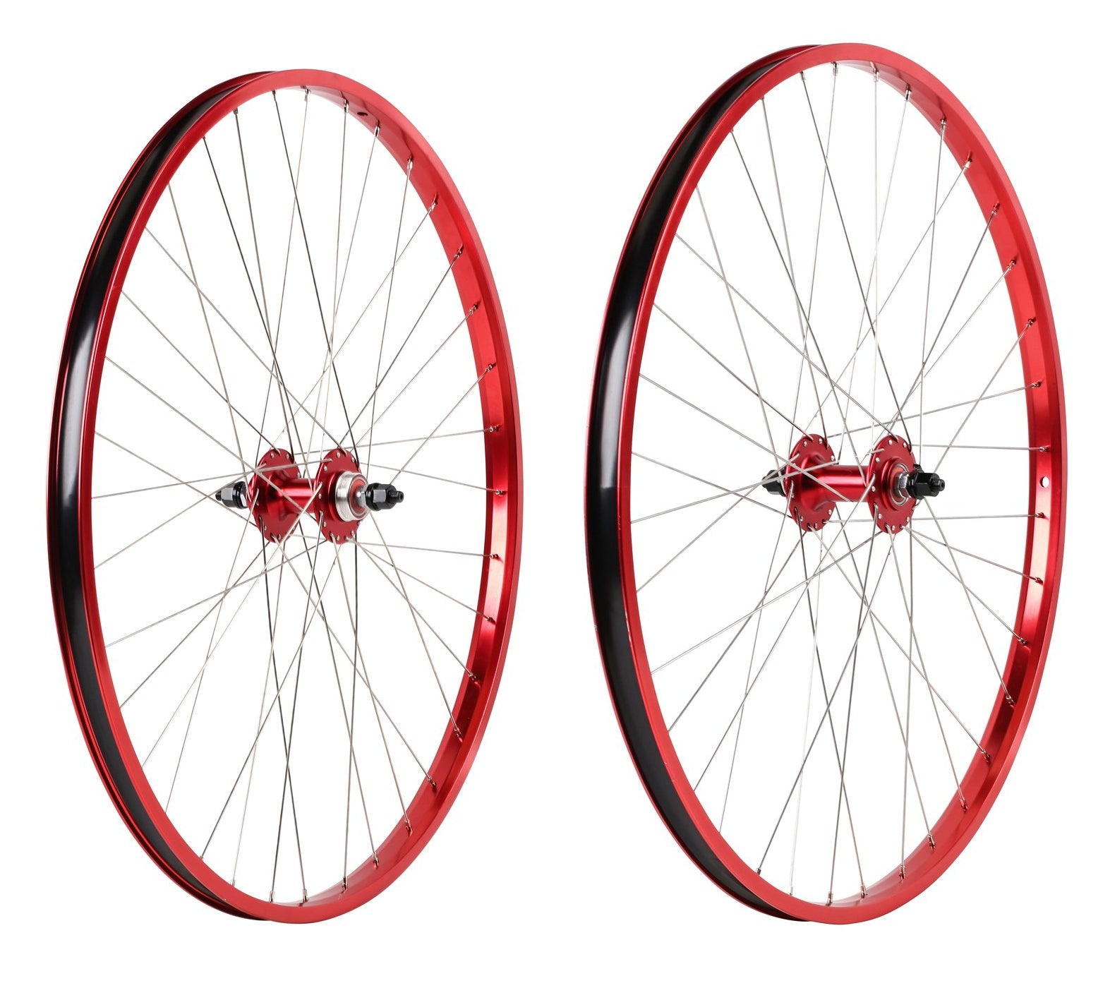 "29"" Haro Legends  BMX Wheelset - Sealed - Double Wall - Red"