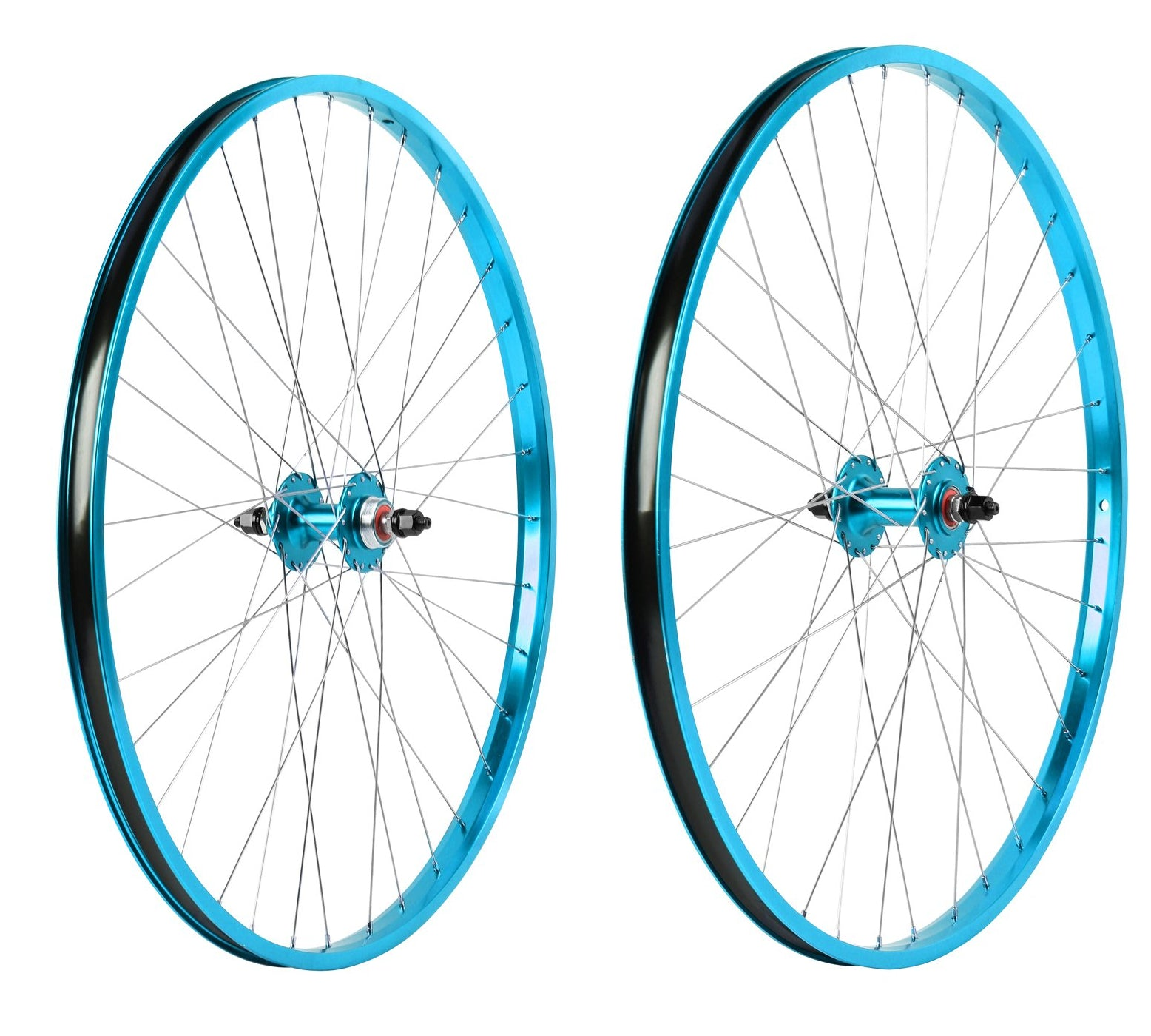 "29"" Haro Legends  BMX Wheelset - Sealed - Double Wall - Teal Blue"