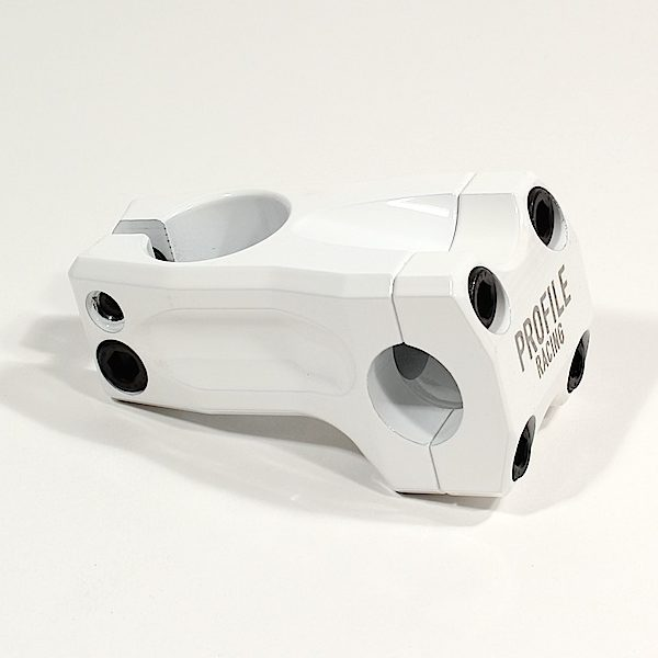 Profile Acoustic BMX Threadless Stem - 53mm - White - USA Made