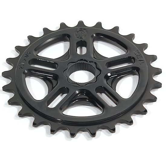 Profile 39t Spline Drive BMX Sprocket / Chainwheel - 19mm - 48-spline - Black - USA Made