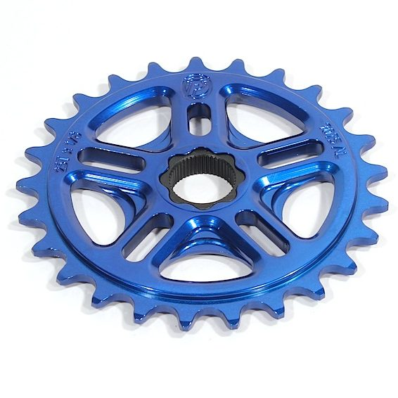 Profile 36t Spline Drive BMX Sprocket / Chainwheel - 19mm - 48-spline - Blue - USA Made