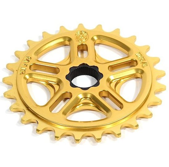 Profile 28t Spline Drive BMX Sprocket / Chainwheel - 19mm - 48-spline - Gold - USA Made