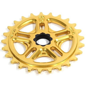Profile 33t Spline Drive BMX Sprocket / Chainwheel - 19mm - 48-spline - Gold - USA Made