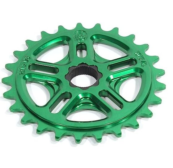 Profile 33t Spline Drive BMX Sprocket / Chainwheel - 19mm - 48-spline - Green - USA Made