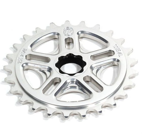 Profile 33t Spline Drive BMX Sprocket / Chainwheel - 19mm - 48-spline - Polished - USA Made